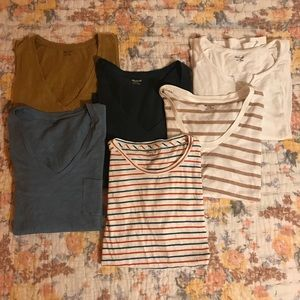 madewell | whisper cotton tee | 6 piece bundle